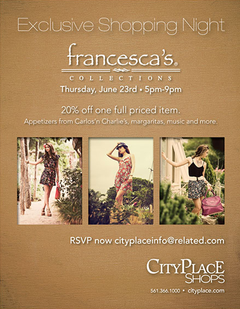 CityPlace_Francescas_ShoppingParty_8.5x11_1