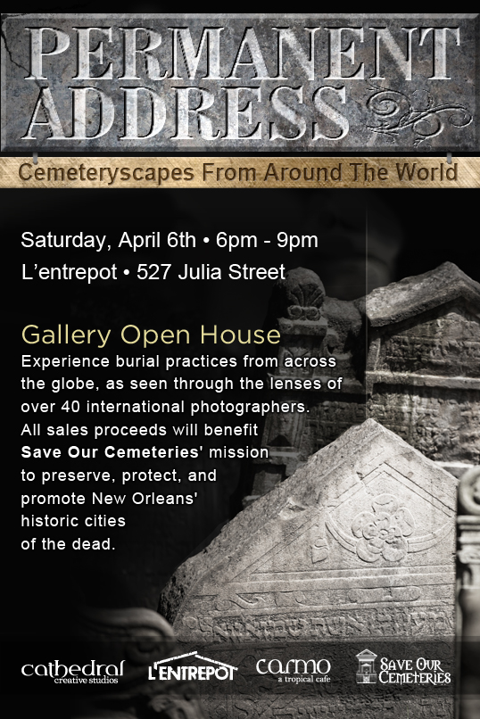 """Permanent Address: Cemeteryscapes From Around The World"", a free photography exhibit to benefit Save Our Cemeteries"